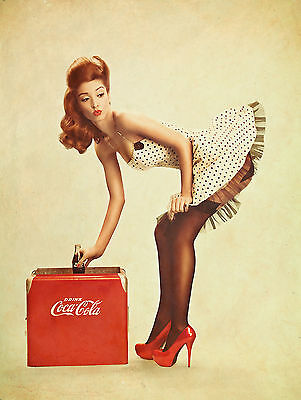Coca Cola Pin Up Girl Coke Vintage CCC02 Giant LARGE WALL Poster A0 A1,A2,A3,A4