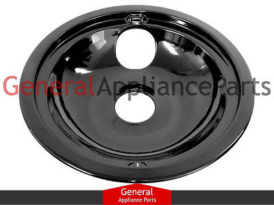 "GE General Electric Stove Range Cooktop 8"" Black Burner Drip Pan Bowl WB32K5042"