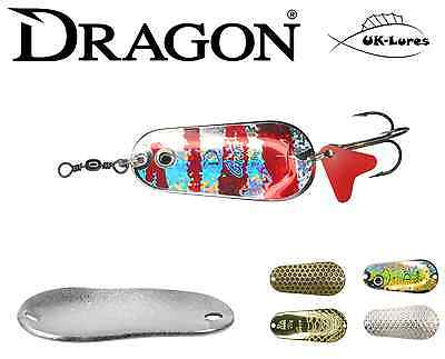 Dragon Spoon Lure GNOM - var. colours/sizes. PIKE PERCH UK-Lures Predator Tackle
