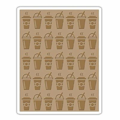 Tim Holtz Sizzix Texture Fades Embossing Folder On The Go  Coffee Soda  New 2015