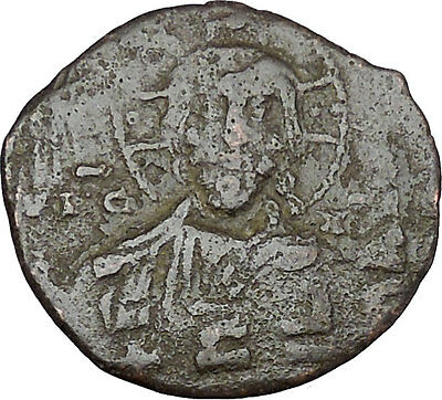 JESUS CHRIST Class A1 Anonymous Ancient 969AD Byzantine Follis Coin i48460