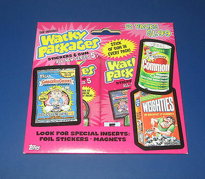 WACKY PACKAGES ANS5 SEALED 2-PACKS IN EXCELLENT CONDITION  @@   RARE   @@