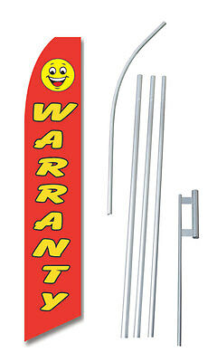 Warranty 15' COMPLETE SWOOPER FLAG STARTER KIT Bow Feather