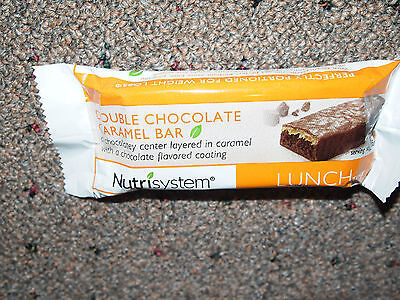 Nutrisystem LUNCH LOT OF 6 DOUBLE CHOCOLATE CARAMEL bars