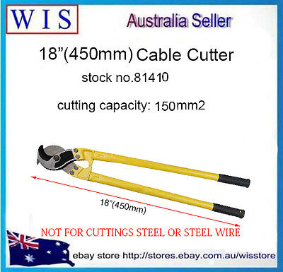 """18""""(450mm) Cable Cutter Cutting Pliers Copper & Aluminium Up To 150m㎡-81410"""