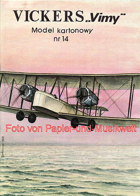 """Model Card - 14 - Vickers """"Vimy"""" - 1:33"""