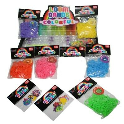 2600pce Fruit Scented Loom Bands Kit with 12 Loom Charms, 90 S Hooks & 1 Loom Bo