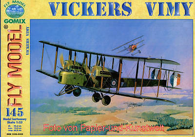 """FLY Model 145 - Vickers """"Vimy"""" - 1:33"""