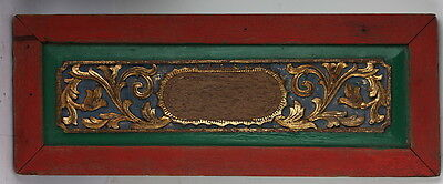 DOOR top Gold Gilt chippy old vintage red & green & blue sign frame chic shabby
