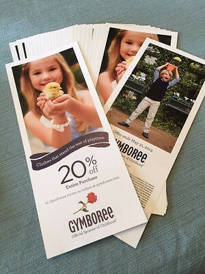 gymboree 20% off entire purchase coupon exp. 5/31/15 *FAST e-delivery*