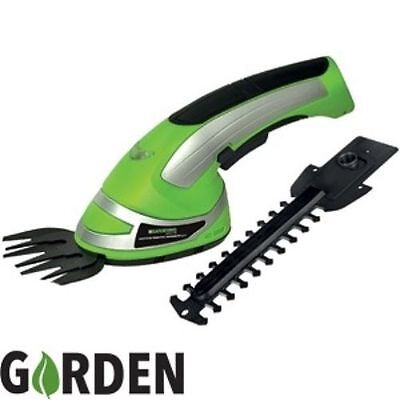 2-In-1 Garden Cordless Grass Shear & Hedge Trimmer Hand Held Shear 3.6V