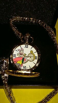 Disney Alice in Wonderland 60th Anniversary Pocket Watch  LE 500 NEW / RARE