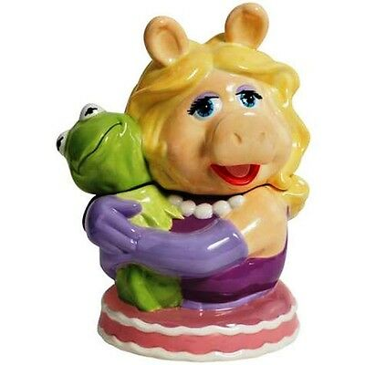 MUPPETS MISS PIGGY PIG HUGGING KERMIT THE FROG COOKIE JAR WG
