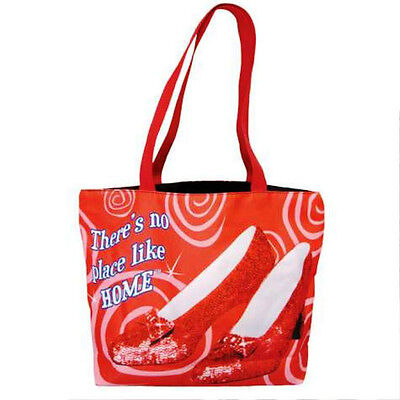 "WIZARD OF OZ NO PLACE LIKE HOME RUBY SHOES SHOPPING TOTE BAG 12 1/2""x 17"" WG I5"