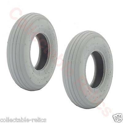 2X Tyres 200X50 Grey Wheelchair Trolley Electric Mobility Scooter 200 x 50 928
