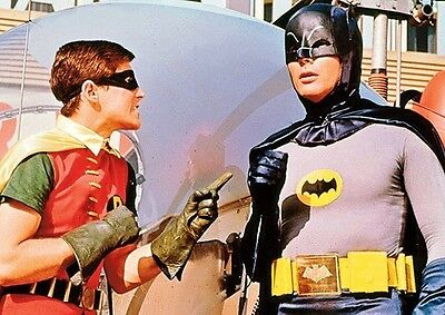 Batman and Robin 1960's Colour Plan Poster