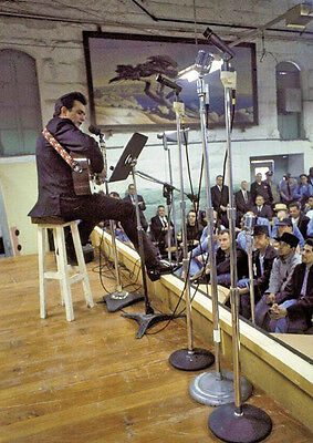 Johnny Cash on Stage in Prison Poster