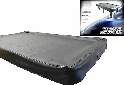 Black Heavy Duty 9ft TABLE COVER Pool Snooker Billiards