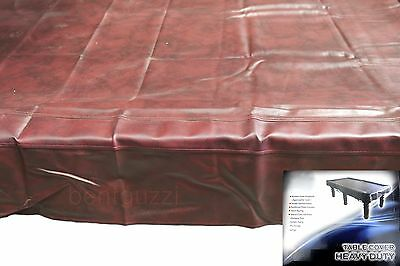 BurgundyHeavy Duty 7ft TABLE COVER Pool Snooker Billiards