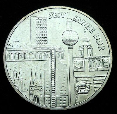 * East Germany 1974 10 Marks. SUPER RARE!  World - Foreign Silver Coin.