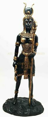 "Ancient Egypt Goddess Hathor Figurine Collectible Mistress of the West 12.75""H"