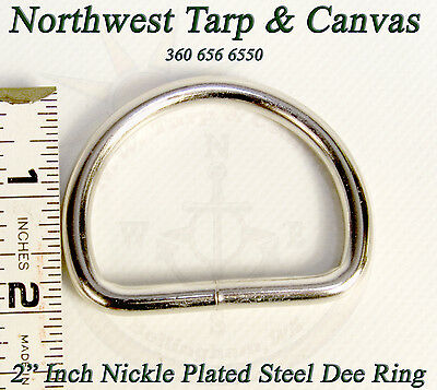 """Dee Ring 2"""" Inch Nickle Plated Steel 1 Each - Shipped from The USA!"""