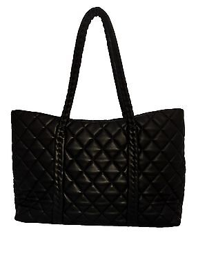 Kafeini Leather Quilted Leather Tote Bag