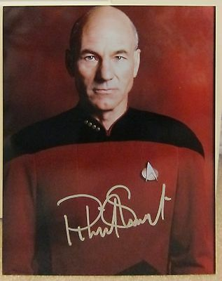 Patrick Stewart Signed Star Trek TNG Autographed Photo Picard with COA