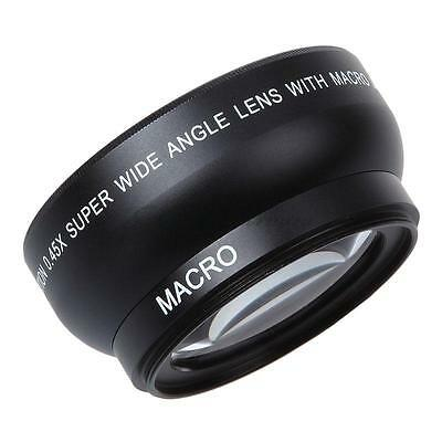 US 52MM 0.45x Wide Angle Macro Lens for Camera Camcorder Nikon D60 D50 LF36