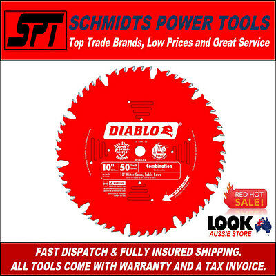 "FREUD D1050X DIABLO 50T 10"" 255mm ATB COMBINATION MITER SAW & TABLE SAW BLADE"