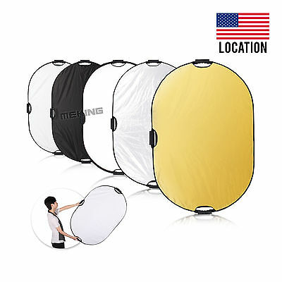 """Selens 24x36"""" 5in1 Light Mulit Collapsible Portable Oval Reflector 60x90cm Panel"""