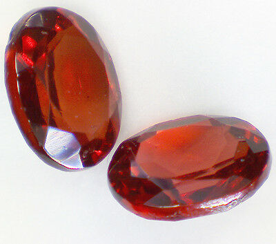 2 GARNET PYROPE faceted oval 4x3 mm 0,45 cts pair EC - Saphirboutique GERMANY