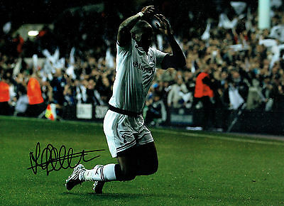 Jermaine DEFOE SIGNED Tottenham Spurs Autograph 16x12 Football Photo AFTAL COA