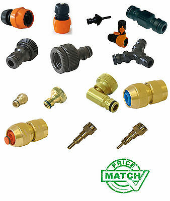 Garden Water Hose Pipe Connector Accessories Watering Quick Brass Plastic WFP