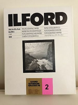 Ilford Galerie FB Grade 2 Glossy 8X10 100 sheets