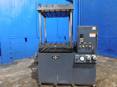 """15 Ton Wabash Up Acting Hydraulic Platen Press 4 Post  30"""" x 30"""" Bed"""