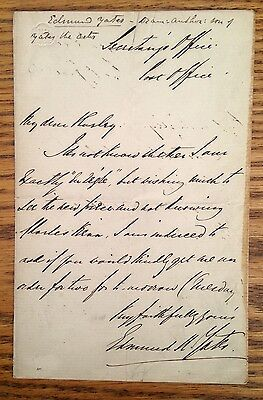 Autograph letter signed by EDMUND YATES English novelist friend of Dickens