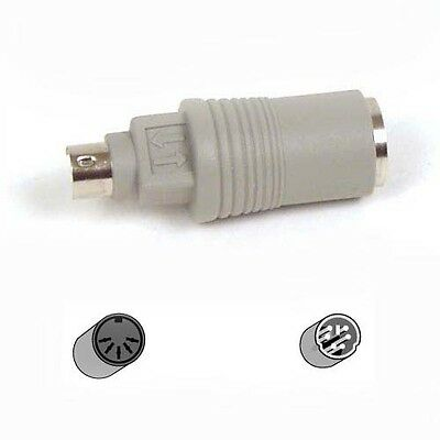BELKIN Pro Series AT 5 Pin Din to PS/2 KEYBOARD MOUSE PC PORT CONVERTER ADAPTER