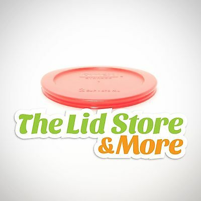 Pyrex Storage Plastic Red Lid - Replacement Cover For 2 Cup Bowl - 7200-PC