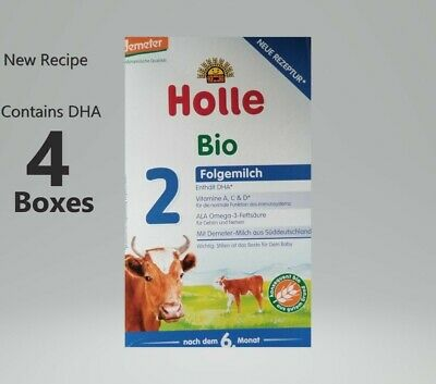 4-Boxes Holle-Organic-infant-Formula-Stage 2 Free priority shipping EXP-12/2020