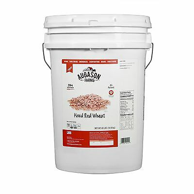 Augason Farms Hard Red Wheat - 40 lbs Pail Emergency Survival Storage Food