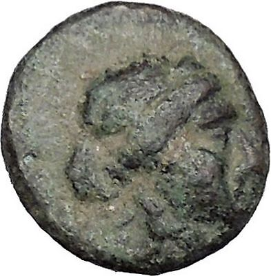 THESSALIAN LEAGUE Larissa Thessaly 196BC Apollo Athena Ancient Greek Coin i47324