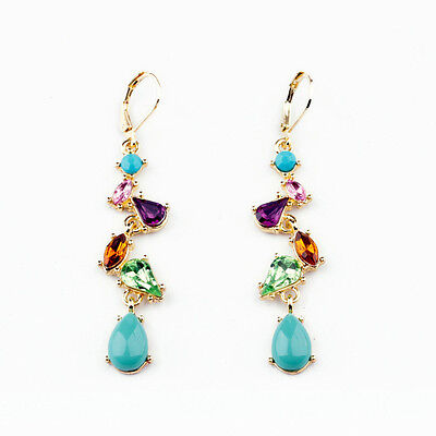 Betsey Johnson Fashion color crystal stone and fresh stud earrings ELS039
