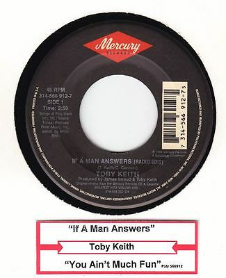 "Toby Keith - If A Man Answers / You Ain't Much Fun 7"" Jukebox Mercury 1992"