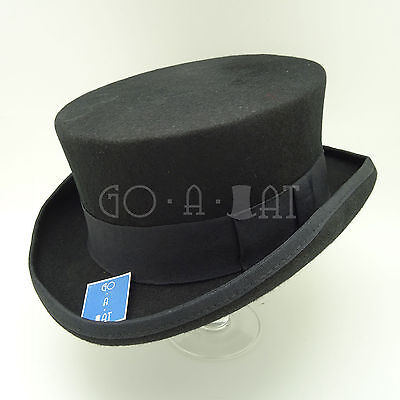 CLASSIC Wool Felt FORMAL Tuxedo Topper Top Hat Men Short | 59cm | Black Red Grey