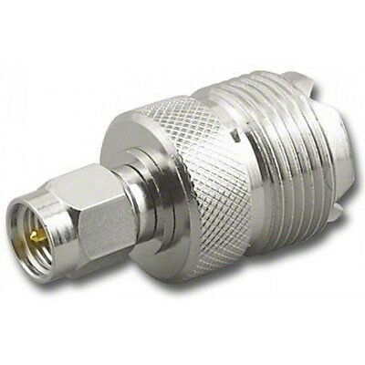 SMA Male Plug to SO239 PL259 Socket UHF Female Antenna RF Adapter Adaptor