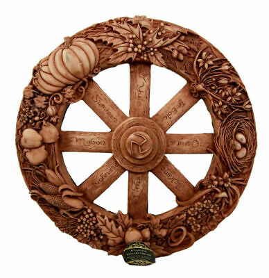 Wheel of the Year Eight Pagan Festivals Wall Plaque Maxine Miller Artist Statue