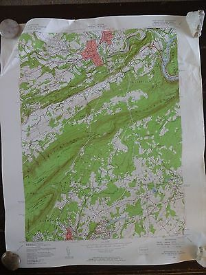 1955 - ANTIQUE Map / Stroudsburg Quadrangle, PA & NJ - Topographic
