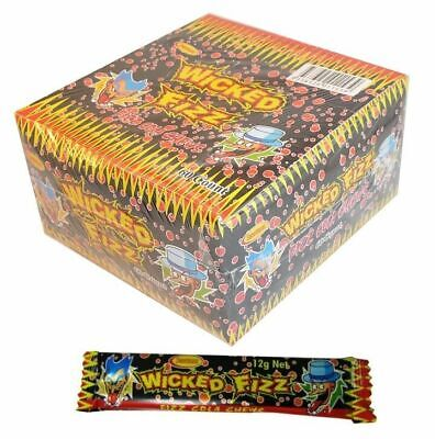 Bulk Lot 60 x Wicked Fizz Chews Cola Candy Sweets Kids Lollies Party Favors