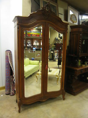 Large Antique 19th Century French Walnut  Knockdown Armoire